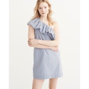 Abercrombie and Fitch | One Shoulder Ruffle Dress